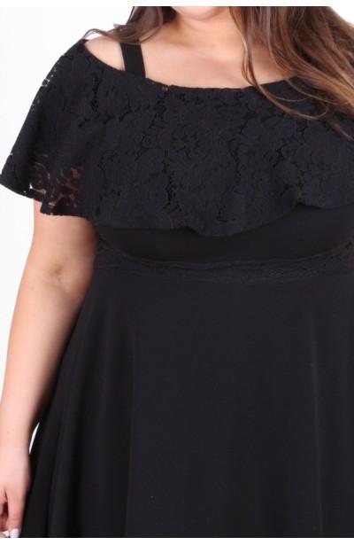 AMELIA BLACK czarna sukienka z koronką