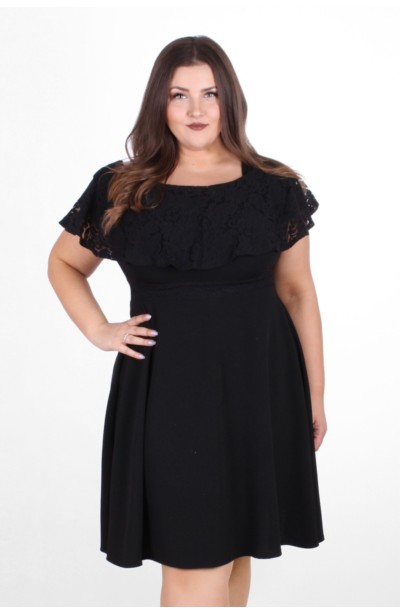 AMELIA BLACK koronkowa sukienka