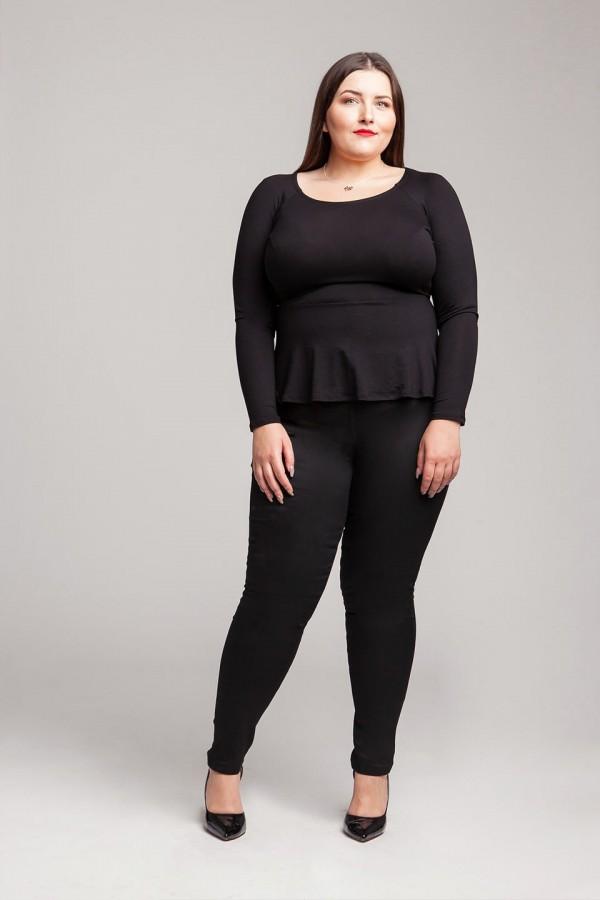LYDIA BLACK modna bluzka plus size z baskinką