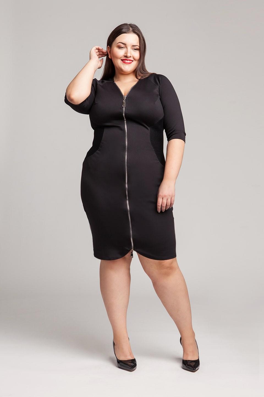 ALEX BLACK zapinana na zamek sukienka plus size