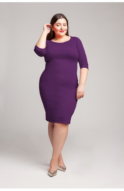 SIMPLE U VIOLET ołówkowa sukienka plus size