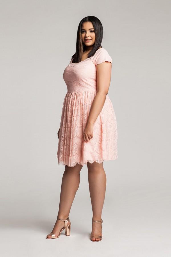 PERLA PEACH koronkowa sukienka plus size
