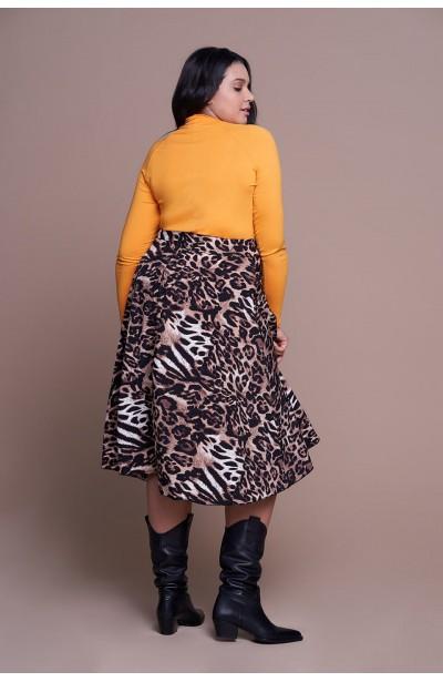 NATALIE zwiewna spódnica plus size w cętki