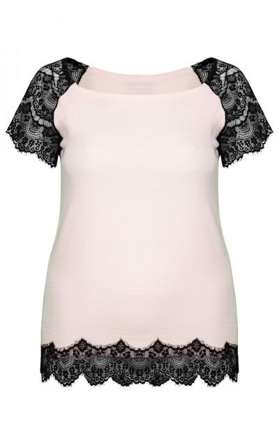 LULA PINK elegancka bluzka plus size z koronką