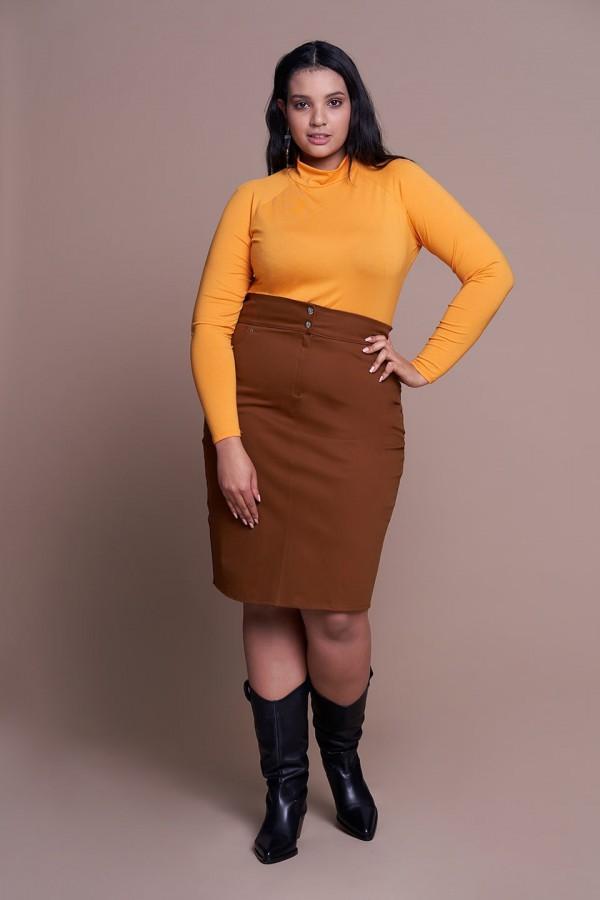 LEXY NUT ołówkowa spódnica plus size z kieszeniami