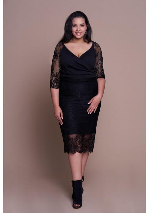 FRANCESS BLACK elegancka sukienka plus size