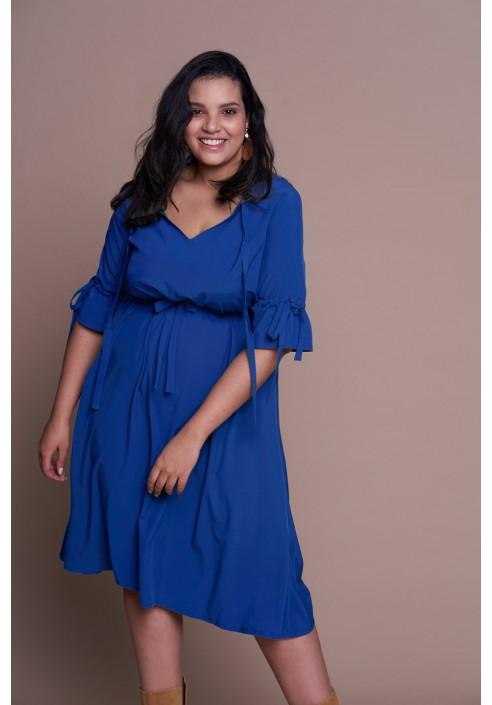 CAYENNE BLUE zwiewna sukienka plus size na wiosnę