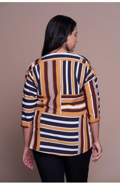 SUNSEE minimalistyczna koszula plus size