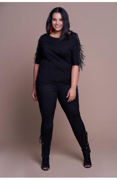 LUCKY BLACK modne spodnie...