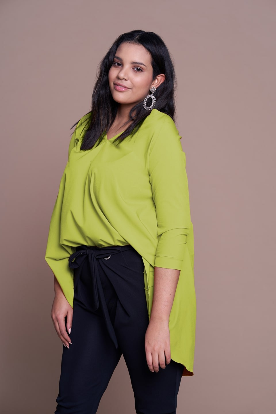 MANDY LIME zwiewna tunika plus size na wiosnę