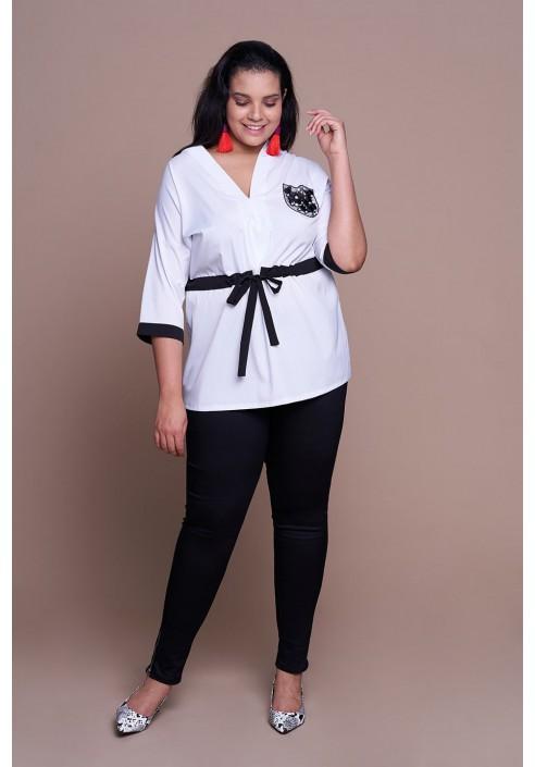 FRIDA WHITE minimalistyczna koszula plus size