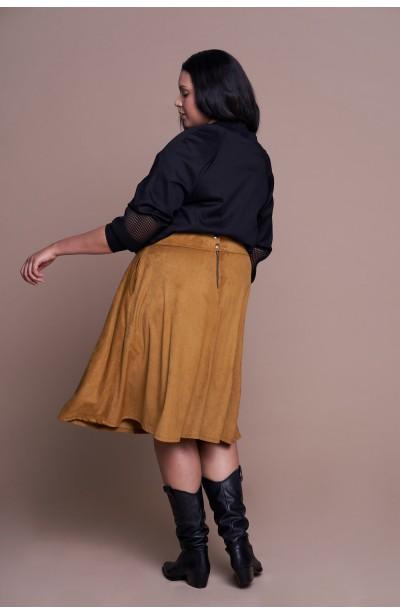 EMILY NUT zamszowa spódnica plus size