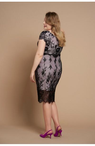 BLANCHE PINK koronkowa sukienka plus size