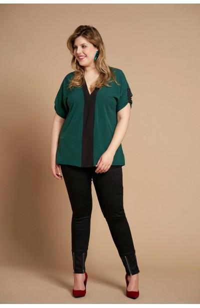 CINDY GREEN minimalistyczna koszula plus size