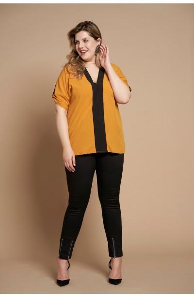 CINDY HONEY minimalistyczna koszula plus size