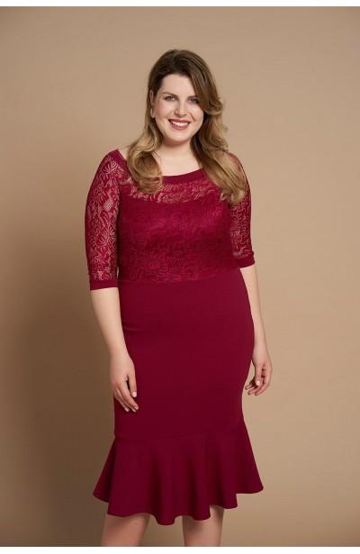 LINDA WINE elegancka sukienka plus size typu rybka