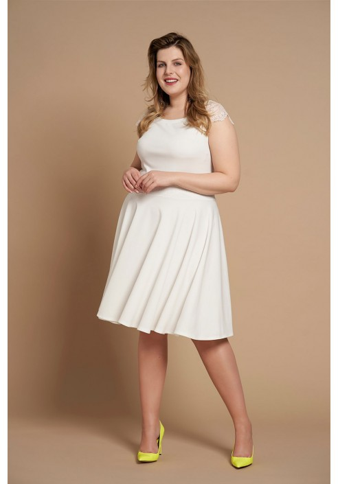 MICHELLE WHITE rozkloszowana sukienka plus size