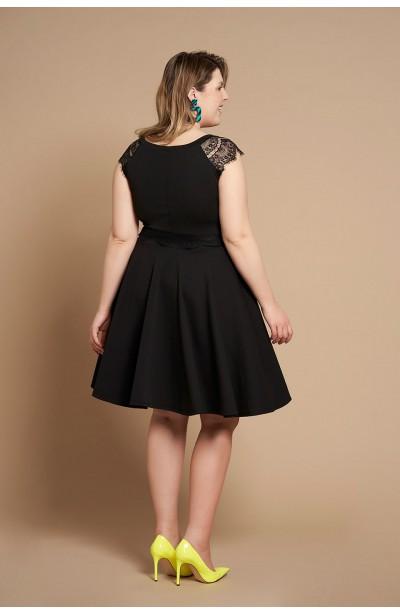 MICHELLE BLACK rozkloszowana sukienka plus size