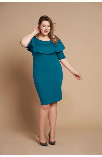 SELENA MARINE elegancka sukienka plus size
