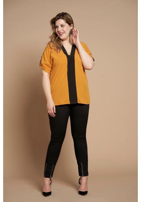 SIRI BLACK minimalistyczne spodnie plus size