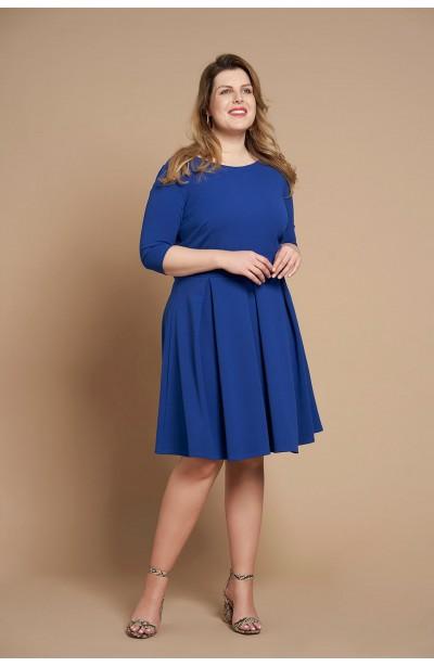 STACY BLUE elegancka sukienka plus size z kokardą