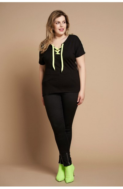 VIKI BLACK bluzka plus size...