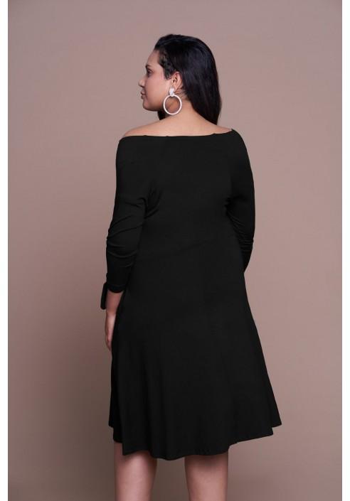 MIKA BLACK letnia sukienka plus size w stylu boho