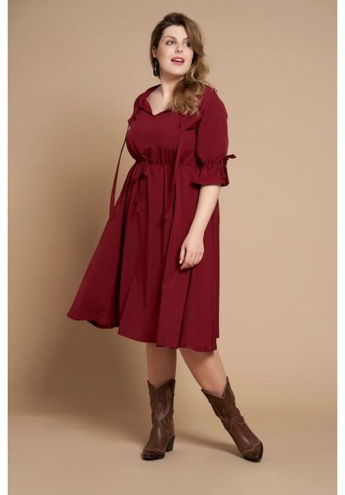 CAYENNE WINE zwiewna sukienka plus size na wiosnę