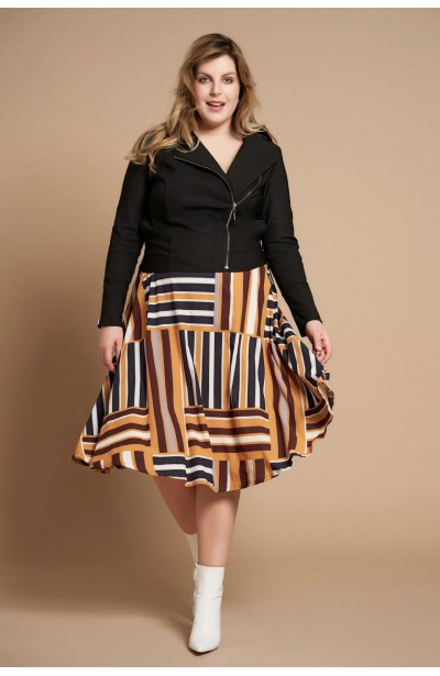 48d01ef64b IRA BLACK modna ramoneska plus size na wiosnę