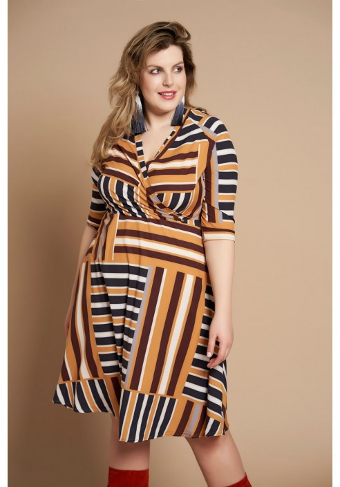 CHARLIZE wiosenna sukienka plus size