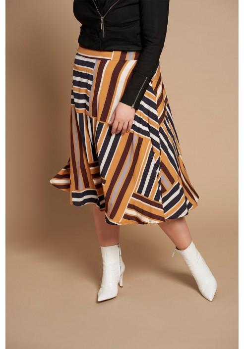PALOMA zwiewna spódnica plus size na wiosnę