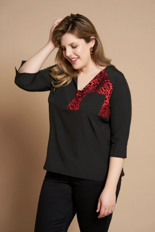 ZURI RED elegancka koszula plus size