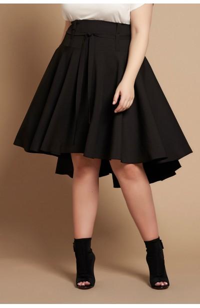 ANGELA BLACK asymetryczna spódnica plus size