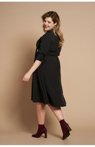 CAYENNE BLACK zwiewna sukienka plus size