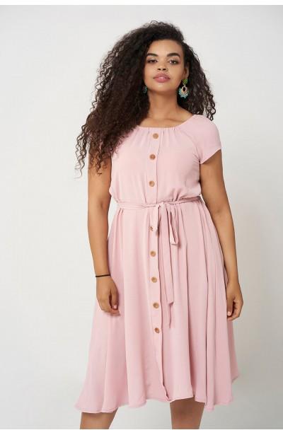 CAMILLA PINK zwiewna sukienka na lato