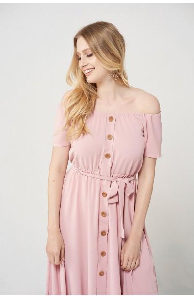 CAMILLA PINK zwiewna sukienka plus size na lato