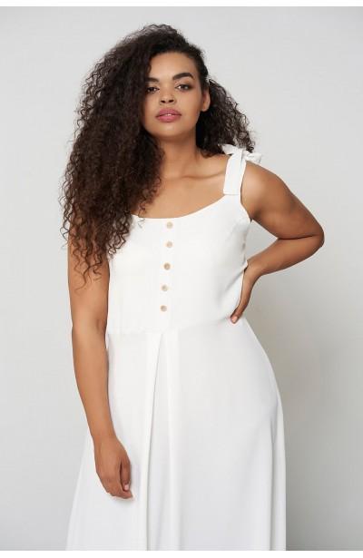 VIVIEN ECRU letnia sukienka plus size
