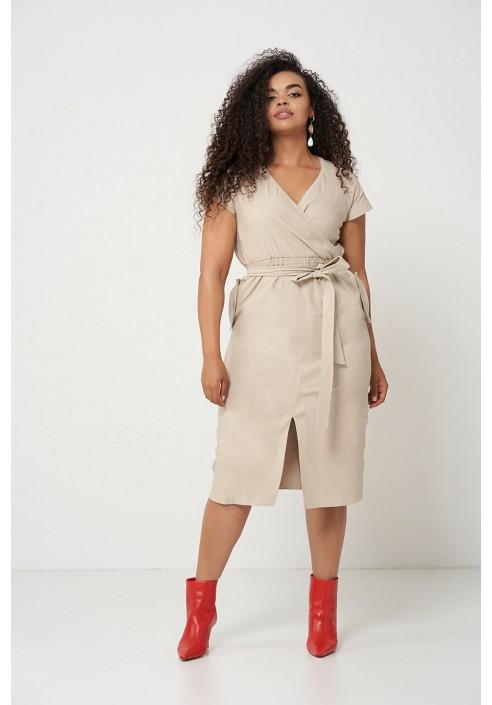 SAVANNAH SAND wygodna sukienka plus size na lato