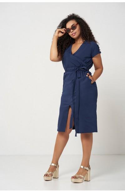 SAVANNAH NAVY wygodna sukienka plus size na lato