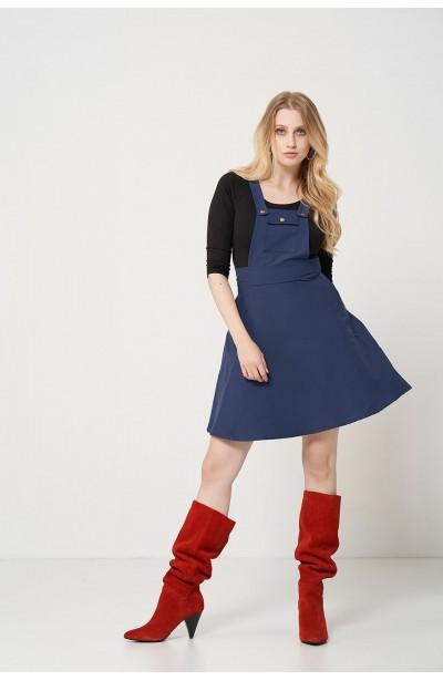 BAY NAVY letnia sukienka z szelkam