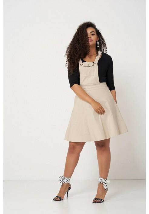 BAY SAND letnia sukienka z szelkami