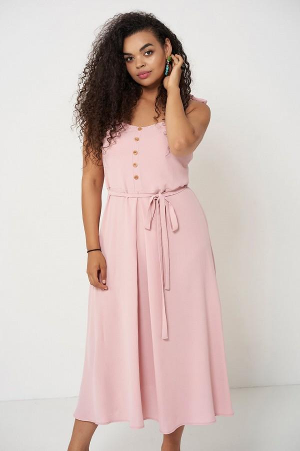 VIVIEN PINK letnia sukienka plus size