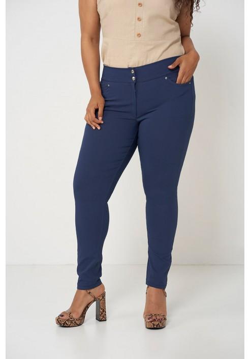SYDNEY NAVY klasyczne spodnie plus size