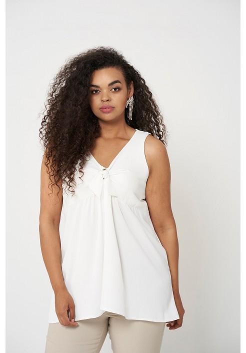 AMBER ECRU elegancka bluzka plus size na lato
