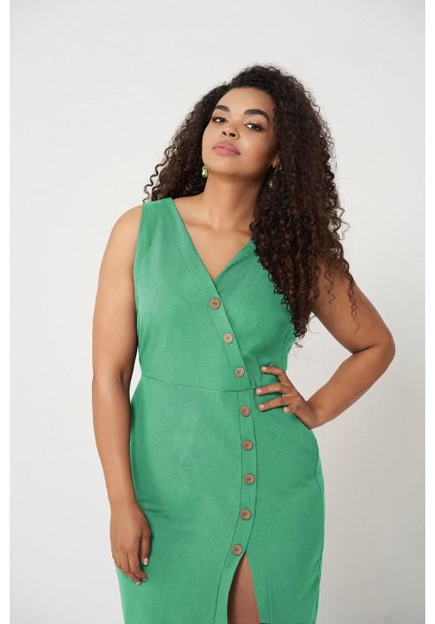 MARI GREEN ołówkowa sukienka plus size na lato