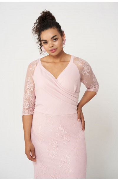 FRANCESS PINK elegancka sukienka plus size