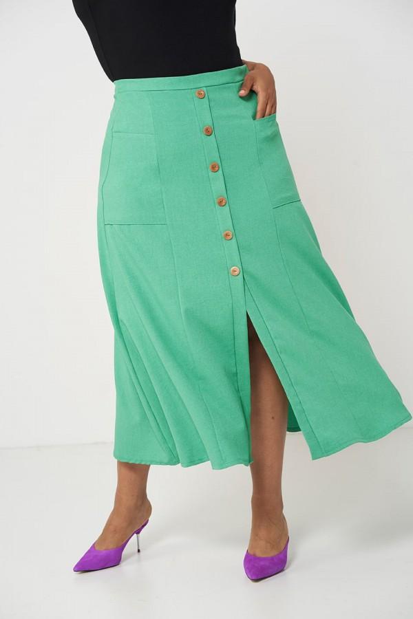 IDA GREEN długa spódnica