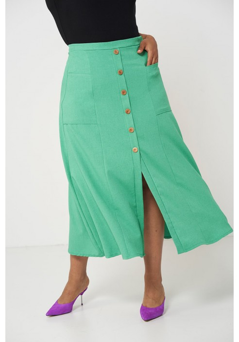 IDA GREEN długa spódnica na lato
