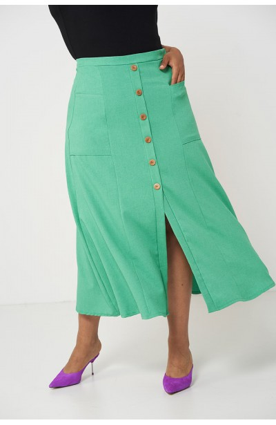 IDA GREEN długa spódnica plus size na lato