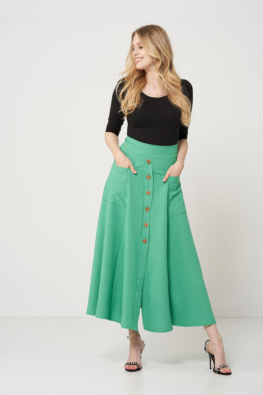 9bf492dd349917 IDA GREEN długa spódnica plus size na lato